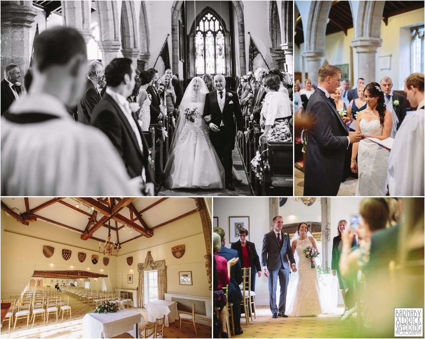 All Saint's Church Ripley Castle wedding ceremony