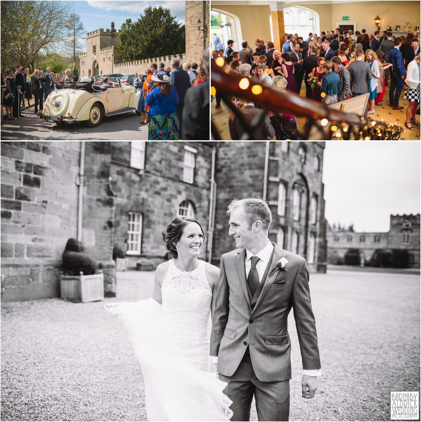 Ripley Castle wedding reception photos