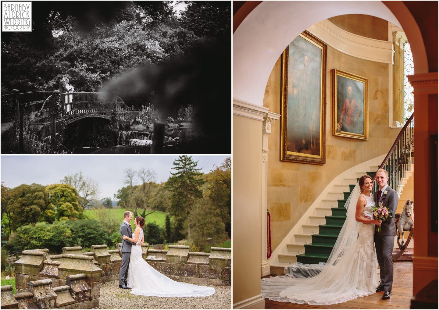 Ripley Castle wedding near harrogate yorkshire