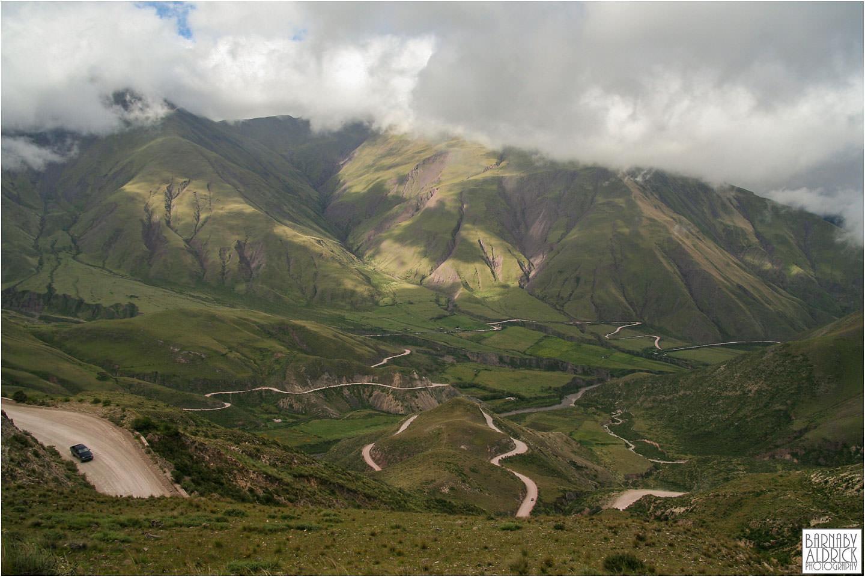 Driving through Salta Landscape Argentina