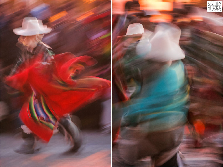 Cuzco street party dancing peru