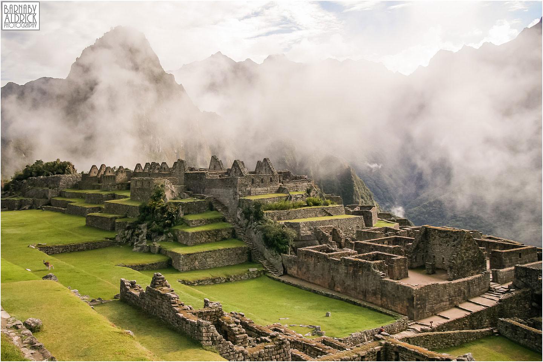 machu picchu mist clearing view, Inca Trail