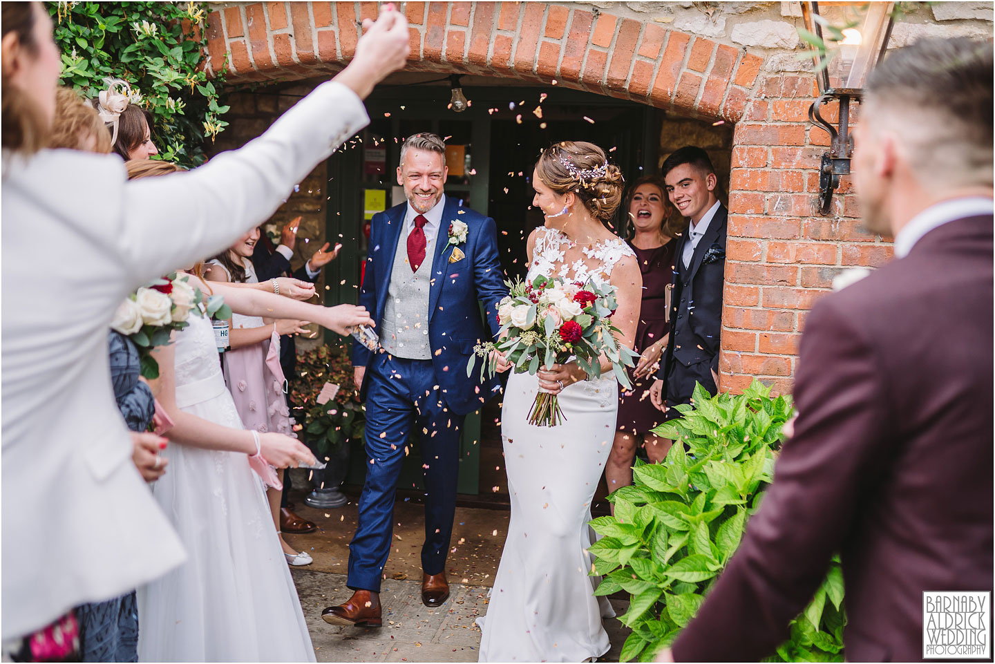 Confetti at the Pheasant, Pandemic wedding, 2020 lockdown wedding, Coronavirus wedding Yorkshire, Awesome Covid 19 wedding, Harome Wedding Photography, The Pheasant Hotel Wedding, Wedding Photography at The Pheasant Hotel North Yorkshire, North Yorkshire Wedding Photographer