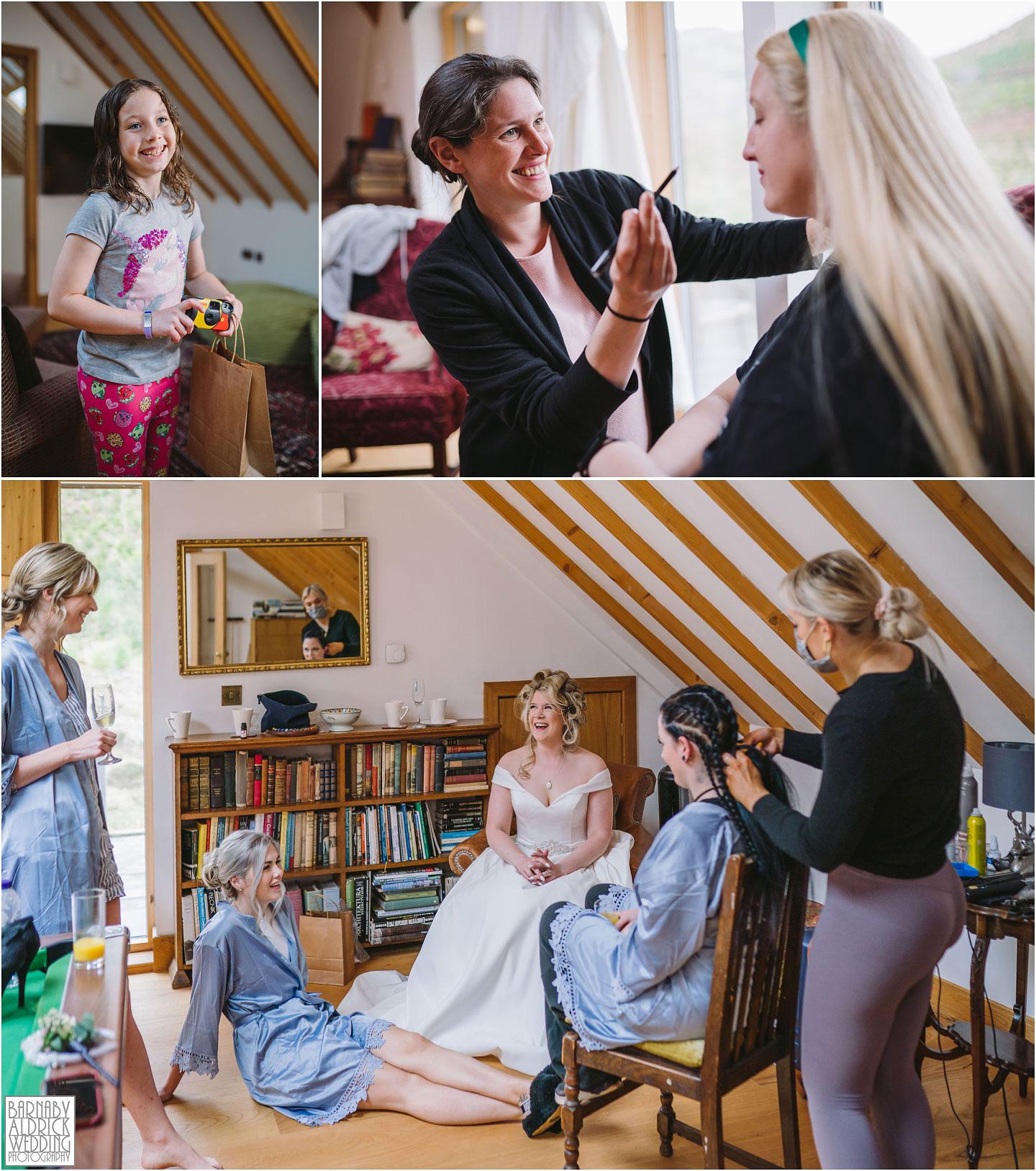 Make up artist at Carrick Castle Estate Lodge Wedding, Loch Goil Wedding photos, Argyll Forest Park Wedding Scotland, Scottish Wedding, Scottish Lockdown Wedding, Scottish Wedding