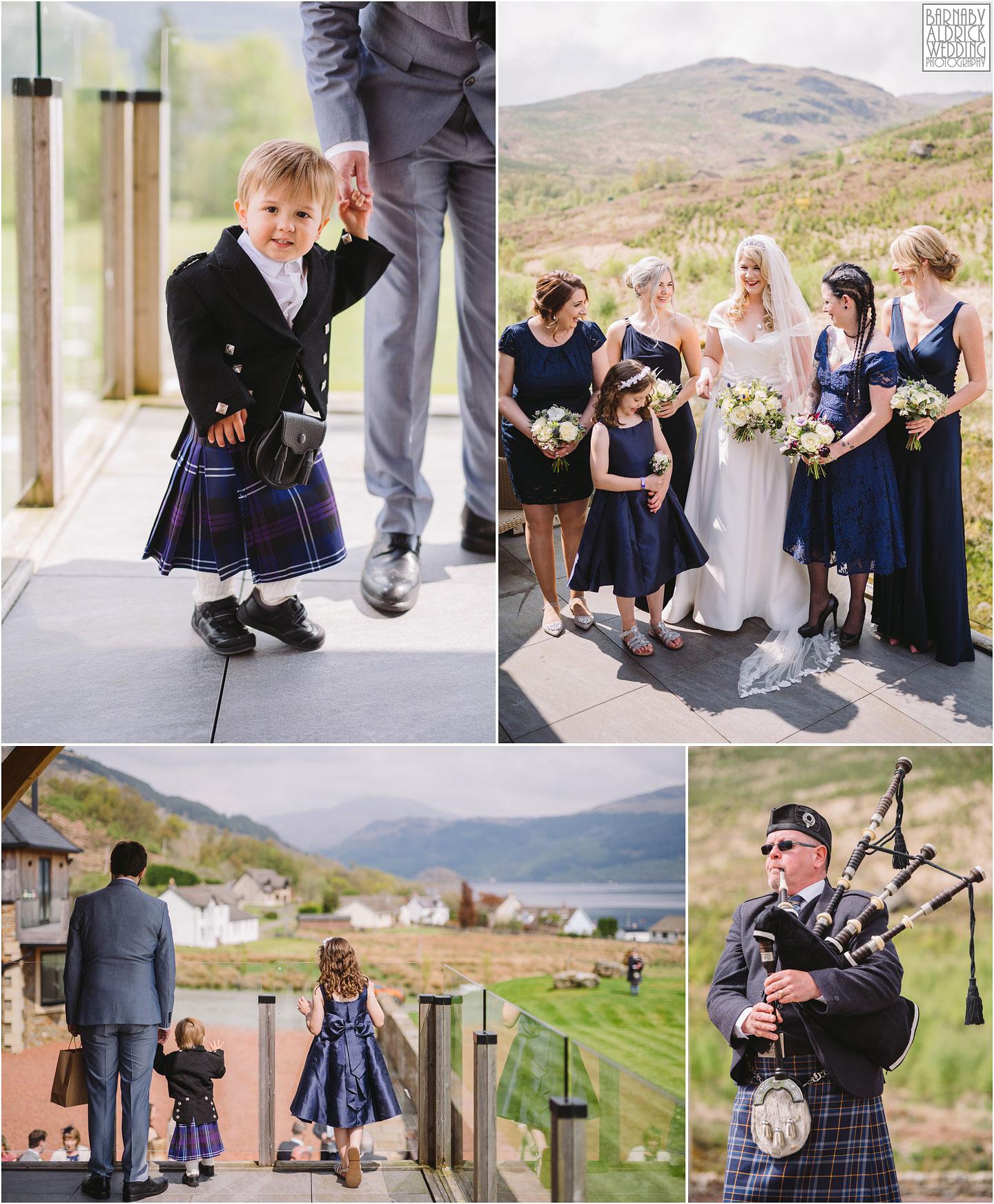 Tiny children's kilt, Child's Kilt Wedding at Carrick Castle Estate, Tam The Piper Loch Goil Wedding photos, Argyll Forest Park Wedding Scotland, Scottish Wedding, Scottish Lockdown Wedding, Scottish Wedding