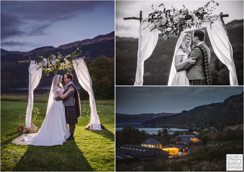 Evening portraits by loch Goil at Carrick Castle Estate Lodge Wedding, Loch Goil Wedding photos, Argyll Forest Park Wedding Scotland, Scottish Wedding, Scottish Lockdown Wedding, Scottish Wedding