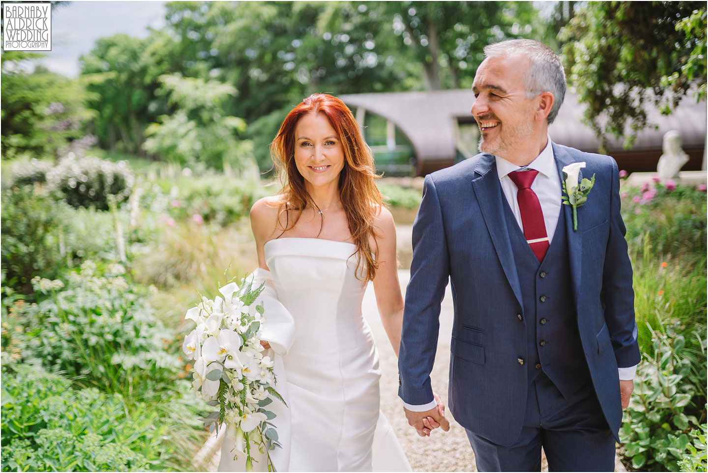 Bowcliffe hall wedding couple portrait photograph by the Blackburn Wing