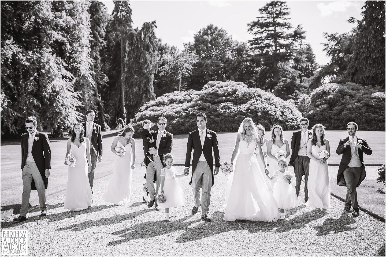 Wedding party photos at Birdsall House