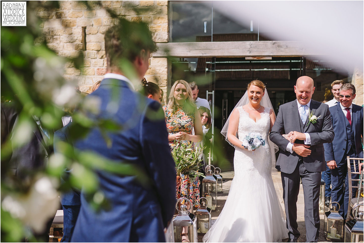 Bridal entrance photos at Priory Cottages, The Priory Wetherby Yorkshire