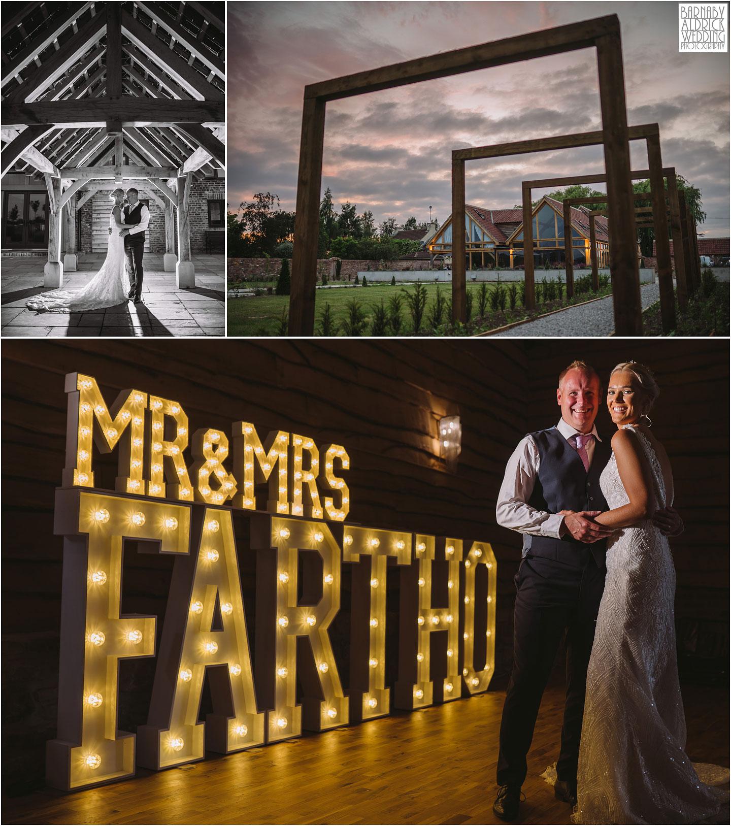 Evening wedding photos, Wedding at The Oakwood at Ryther, Oakwood at Ryther wedding photographer, The Oakwood at Ryther wedding photos, Stylish Yorkshire wedding barn venue