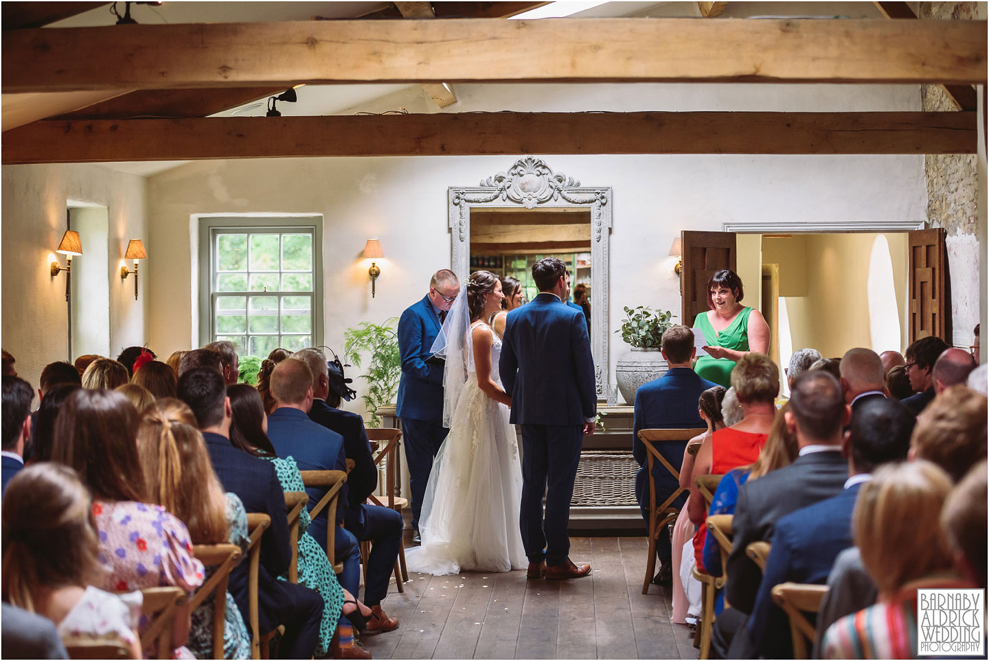 Wedding ceremony at the Fig House Walled Garden at Middleton Lodge, Fig House Walled Garden Middleton Lodge Wedding Photos, Fig House Middleton Lodge Richmond, Middleton Lodge wedding photographer, Middleton Lodge Wedding Photography, Yorkshire Wedding Photographer Barnaby Aldrick