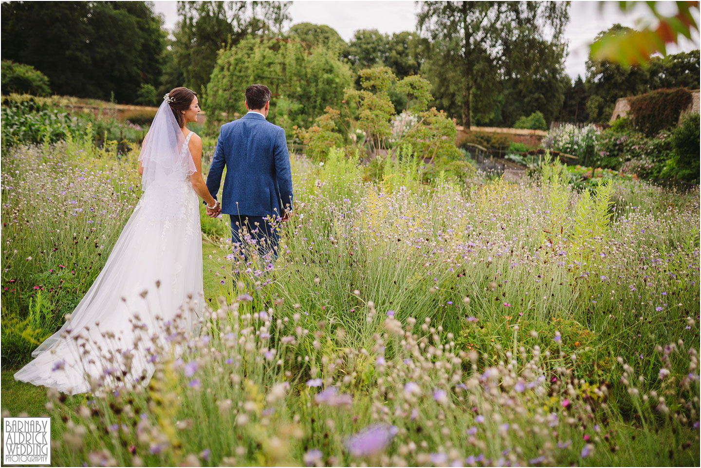 Wedding portraits at the Fig House Walled Garden at Middleton Lodge, Fig House Walled Garden Middleton Lodge Wedding Photos, Fig House Middleton Lodge Richmond, Middleton Lodge wedding photographer, Middleton Lodge Wedding Photography, Yorkshire Wedding Photographer Barnaby Aldrick