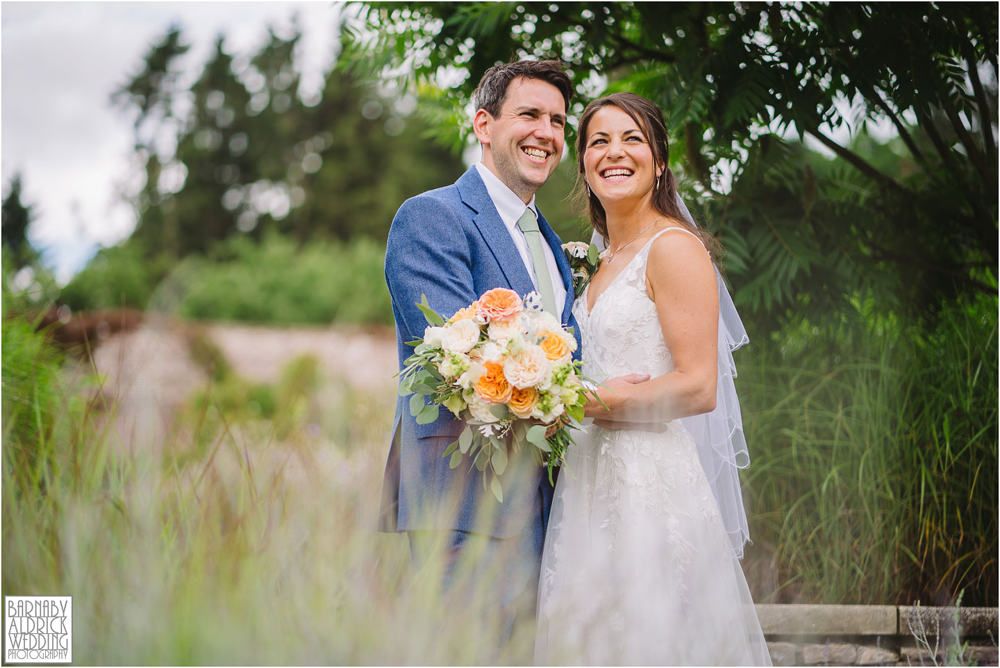 Bride and groom at the Fig House Walled Garden at Middleton Lodge, Fig House Walled Garden Middleton Lodge Wedding Photos, Fig House Middleton Lodge Richmond, Middleton Lodge wedding photographer, Middleton Lodge Wedding Photography, Yorkshire Wedding Photographer Barnaby Aldrick
