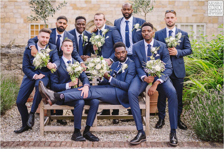Fun groomsmen Wedding Party Group photos, Priory Cottages, Priory Cottages Wedding, Syningthwaite Priory photos