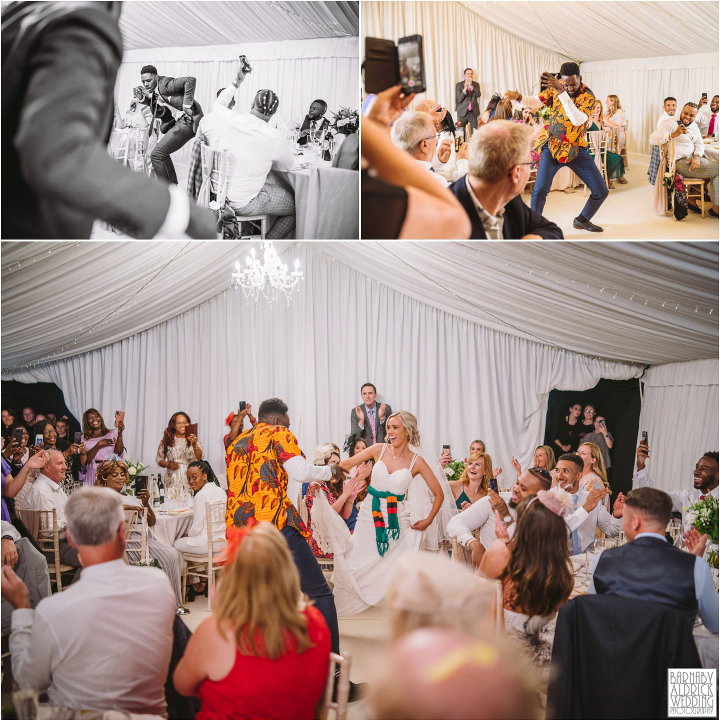 Amazing entrance of the bride and groom photos