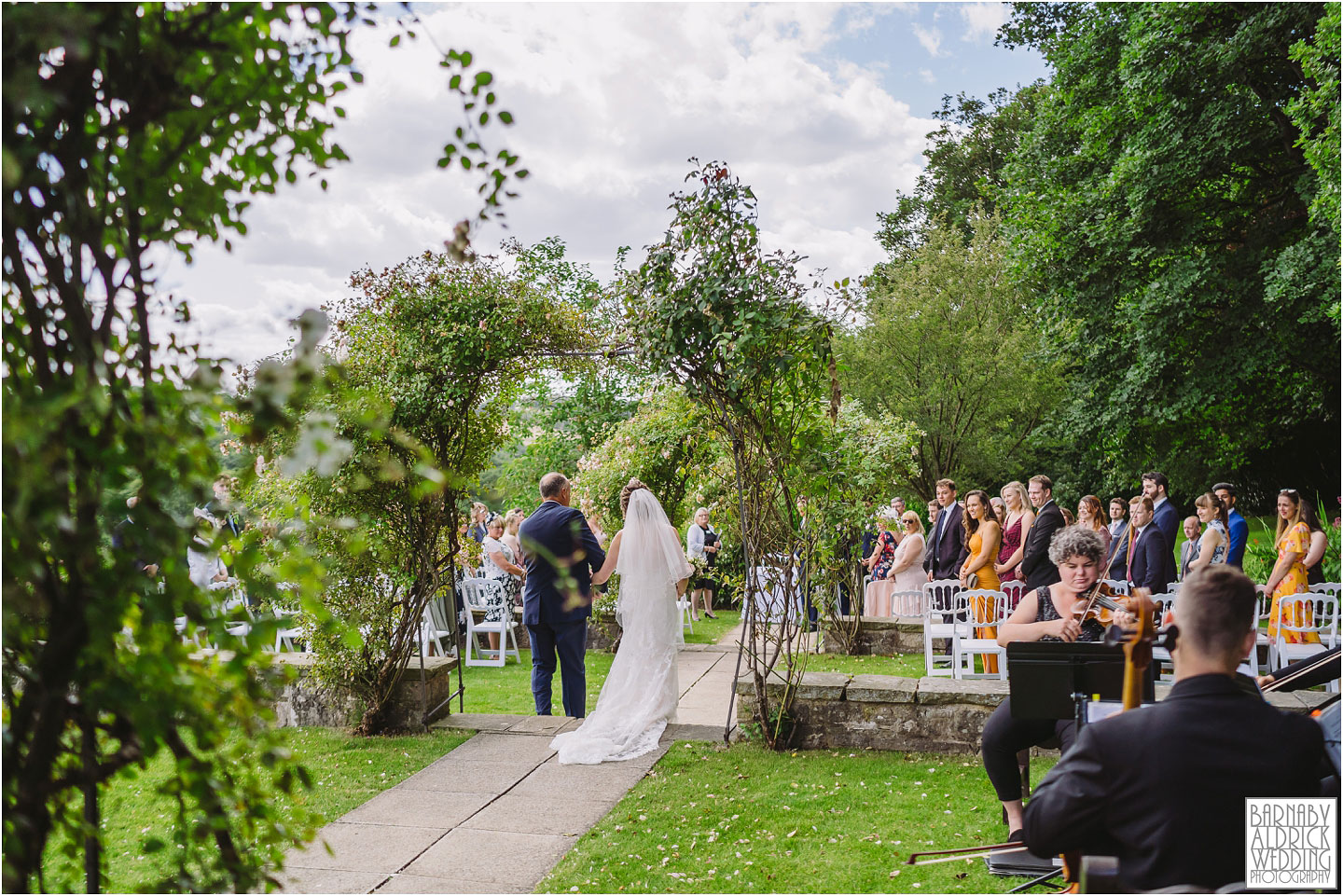 Outdoor Wedding ceremony at Wood Hall in Yorkshire
