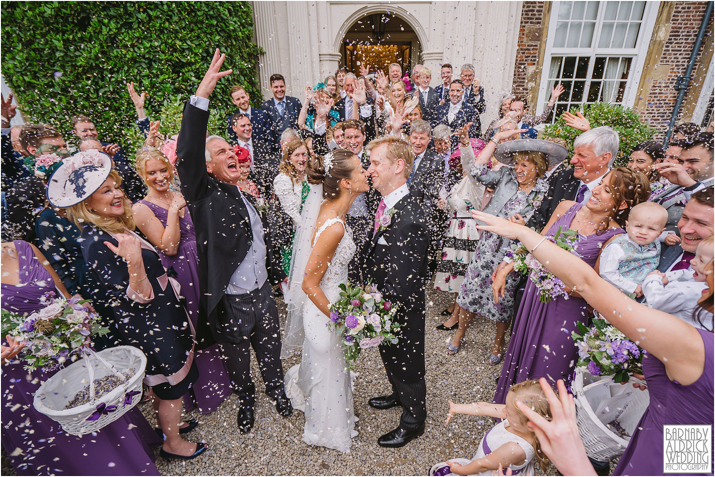 goldsborough Hall Confetti wedding photo, Goldsborough Hall Wedding Photos, Goldsborough Hall Wedding Photography, Yorkshire Wedding, Yorkshire Wedding Photographer, Knaresborough Wedding, Harrogate wedding venue, Yorkshire Stately House Wedding