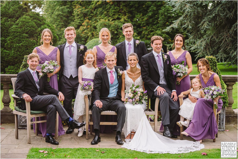 Fun wedding party group photos at Goldsborough Hall, Goldsborough Hall Wedding Photography, Yorkshire Wedding, Yorkshire Wedding Photographer, Knaresborough Wedding, Harrogate wedding venue, Yorkshire Stately House Wedding